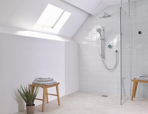 Bathroom with Aqualisa shower