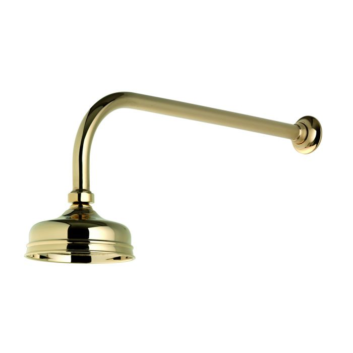 Shower head drencher kits Aquatique-Aquatique concealed fixed 125cm drencher head - Gold