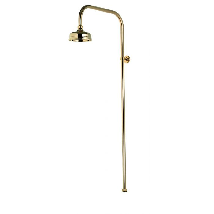 Shower head drencher kits Aquatique-Aquatique exposed fixed 125cm drencher head - Gold