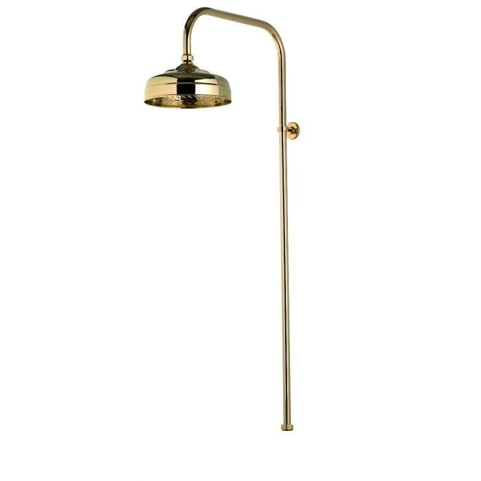 Aquatique exposed fixed shower head - 200cm, Gold