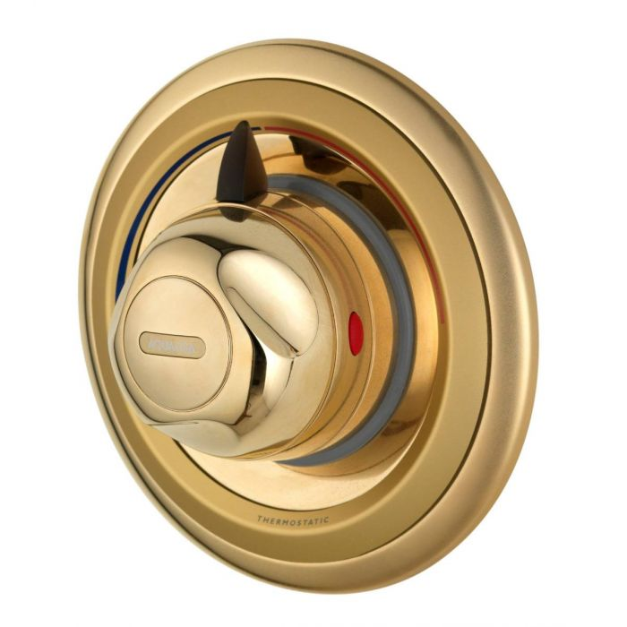 Concealed thermostatic mixer shower valve Aquavalve 609-Gold