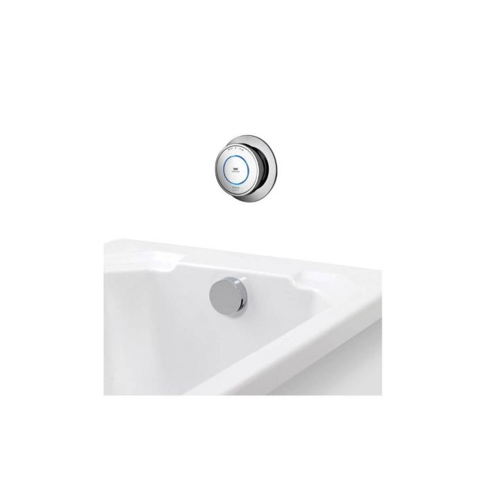 Concealed digital bath mixer Quartz with overflow filler - Gravity Pumped