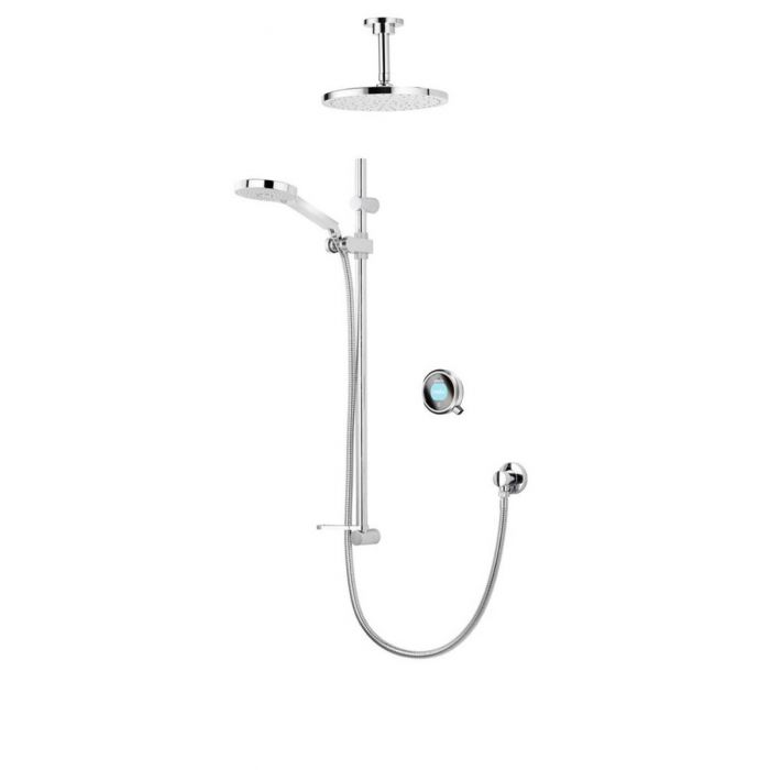 Concealed digital shower Q with adjustable and fixed ceiling shower heads - Gravity Pumped