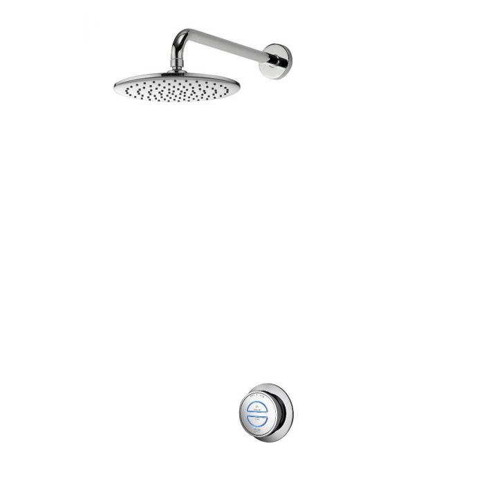 Concealed digital shower Quartz with fixed shower head - Gravity Pumped