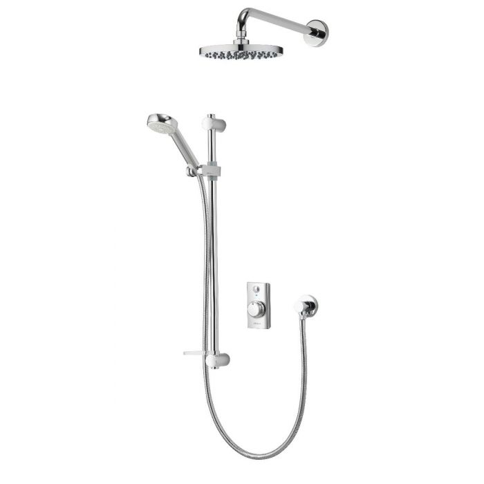 Concealed digital shower Visage with adjustable and fixed wall shower heads - HP/Combi