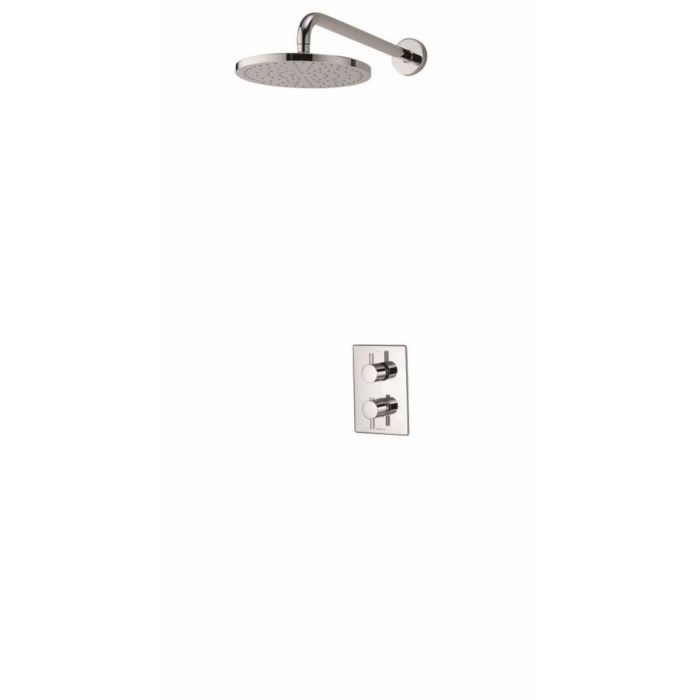 Concealed mixer shower Dream DCV with wall fixed drencher shower head - HP/Combi