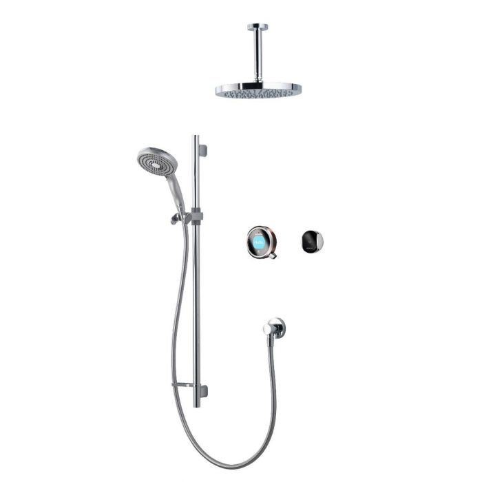 Digital mixer shower Q edition Dual outlet with remote control - HP/Combi
