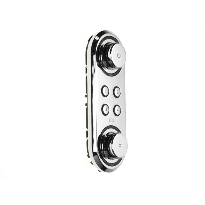 Digital shower bath controller Ilux-Ilux Shower - Front Chrome