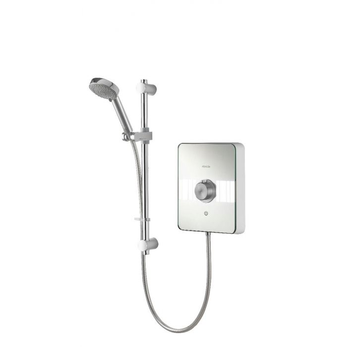 Electric shower 10.5kw Lumi White/Chrome