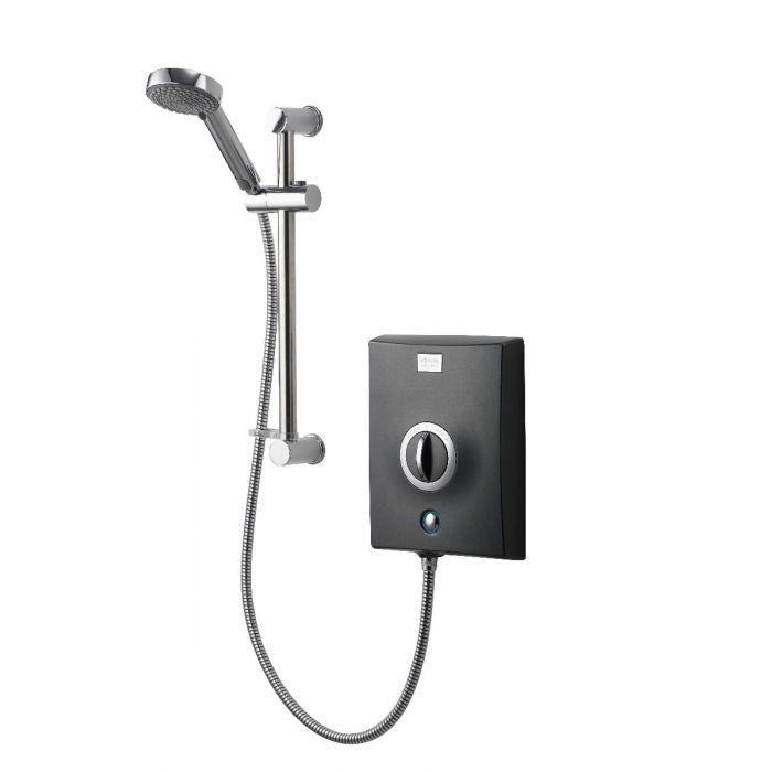 Electric Shower 8.5kW Quartz Graphite/Chrome