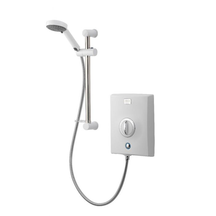Electric Shower 8.5kW Quartz White/Chrome