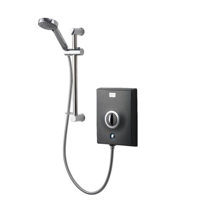 Electric Shower 9.5kW Quartz Graphite/Chrome