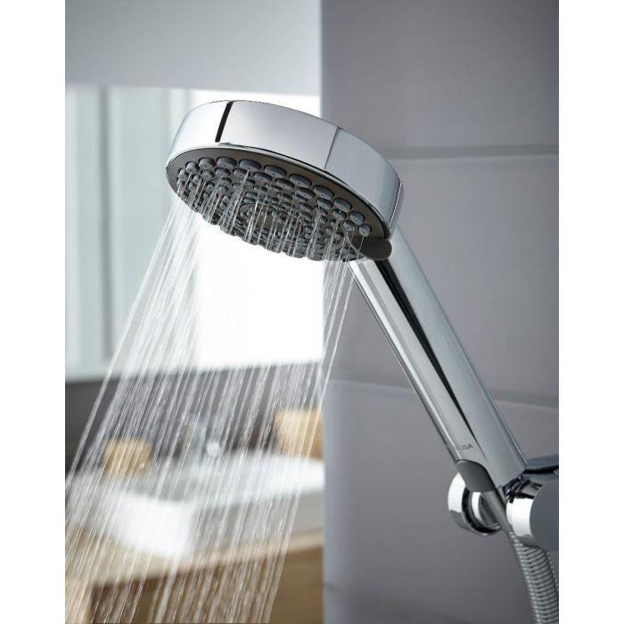Electric shower 9.5kw Lumi White/Chrome