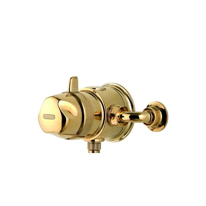 Exposed thermostatic mixer shower valve Aquavalve 700-Gold
