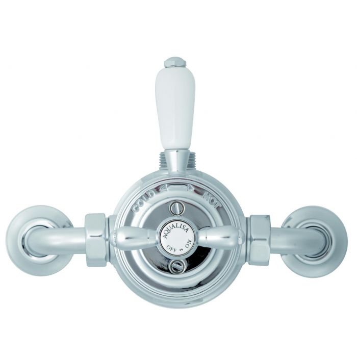 Exposed thermostatic victorian shower valve mixer Aquatique Thermo - Chrome