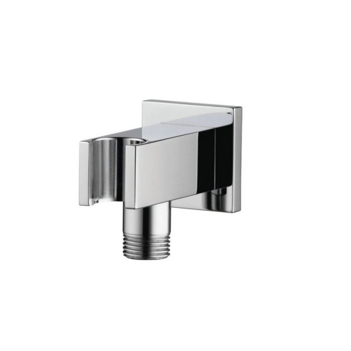Hand shower holders Premier Collection-Options Square wall outlet with combined hand shower holder