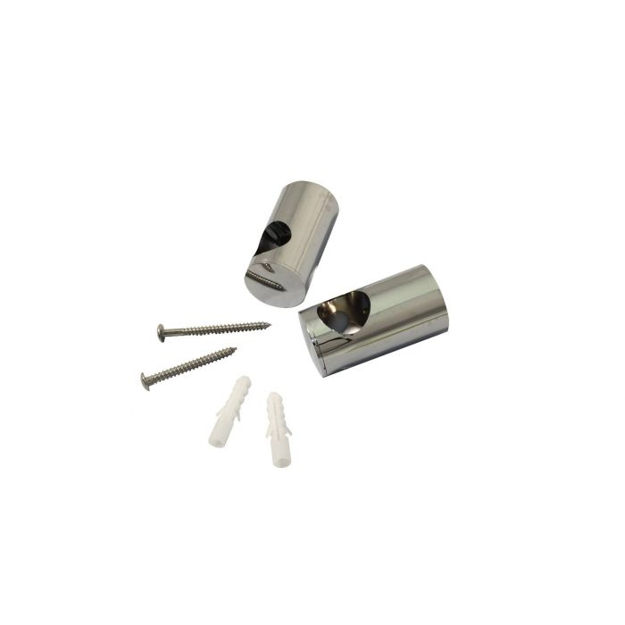 Shower rail end assembly 25mm