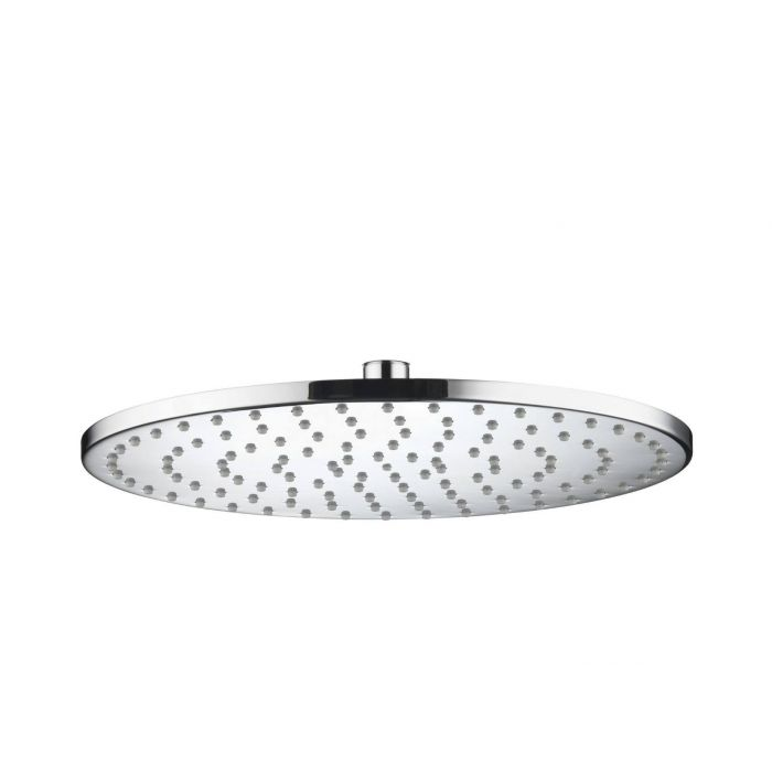 300mm Round slim metal shower head - Chrome