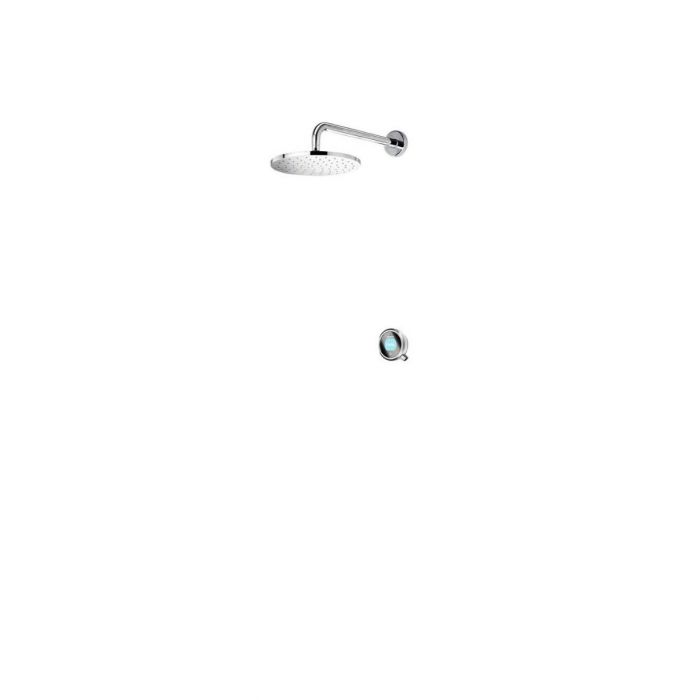Concealed digital shower Q-Q Digital with fixed wall head - HP/Combi