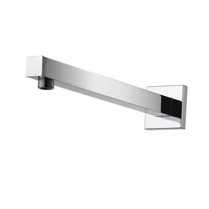 Shower arms for fixed shower heads Premier Collection-Options Wall mount 450mm Square arm