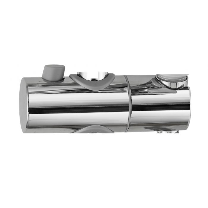 Sliding shower head holders-Sliding shower head holder 22mm Chrome - AQ100 AQ150 Dual