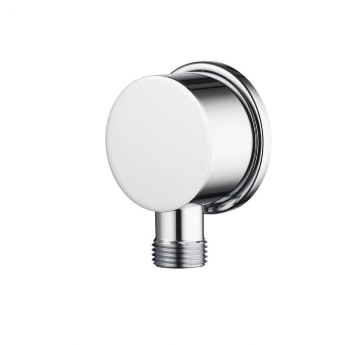 Shower wall outlets Premier Collection-Options Brass Round wall outlet