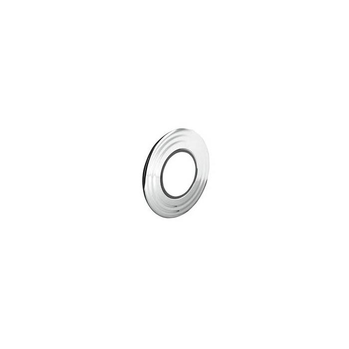 Large shower wall plate plus gasket Chrome