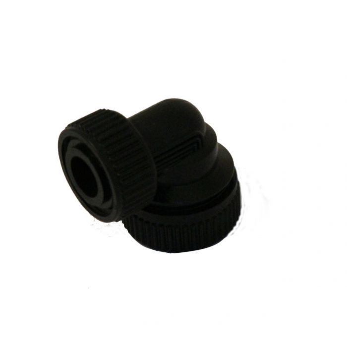 Shower body elbows and seals Aquavalve 200/400-Inlet elbow pair 22 mm - Black