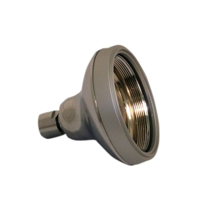 Shower head shell plastic-Shower head shell for plastic arm - Chrome