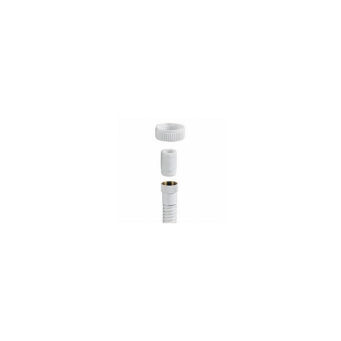 Shower hose reducer Aquavalve 200/400-Reducer kit 1/2 thread and nut - Black