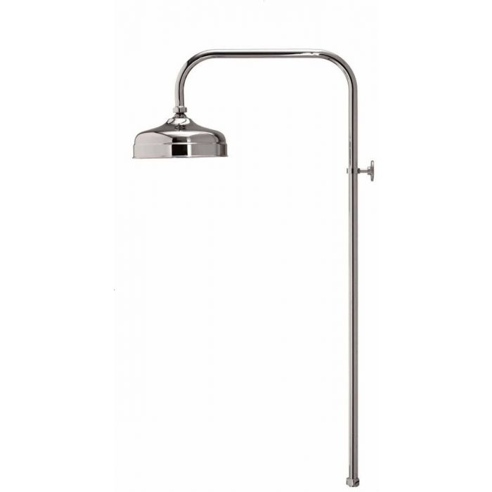 Shower head drencher kits Aquatique-Aquatique exposed fixed 200cm drencher head - Chrome