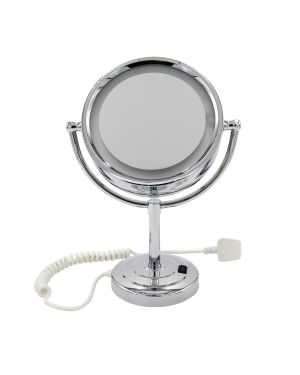 Stainless Steel Countertop LED Mirror With 3x Magnification