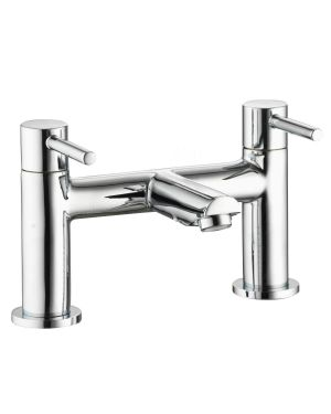 Uptown Bath Taps shown in Chrome