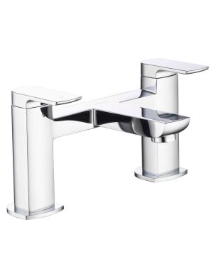 Bath taps with a soft squared paddle lever