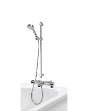 Bath Shower Mixer with Adjustable Head - Chrome