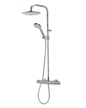 Mixer Shower Column with Adjustable Head and Fixed Head - Chrome