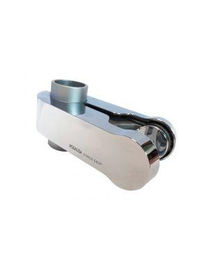 Pinch Grip Shower Head Holder - Satin Chrome, 25mm