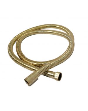 1.5m Metal Shower Hose in Gold