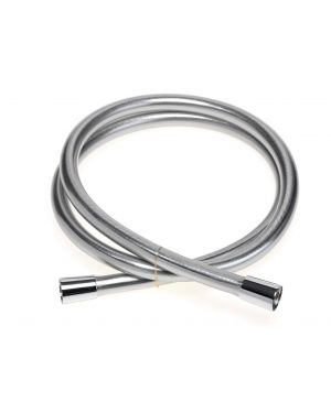 1.5m Smooth Shower Hose - Satin Chrome