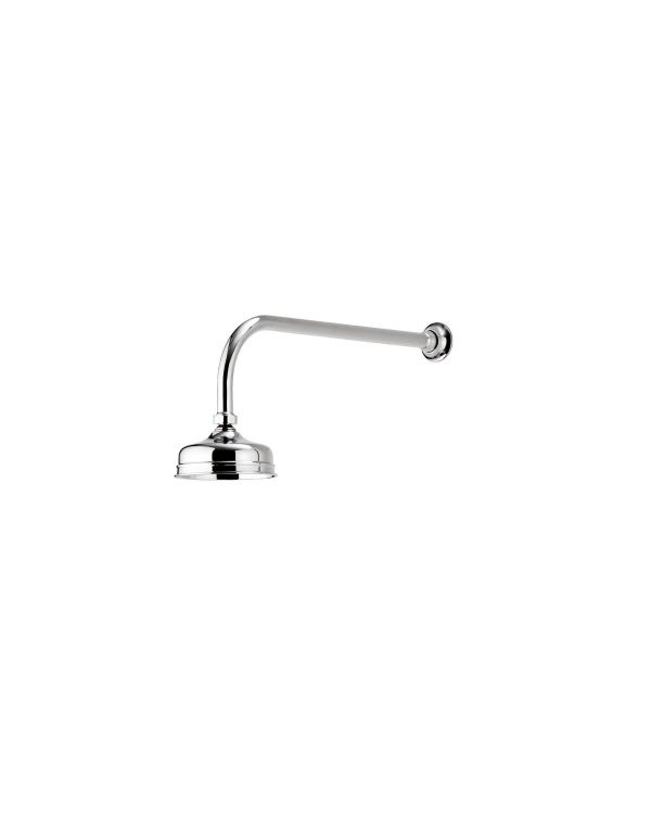 125mm Wall Fixed Traditional Shower Head - Chrome