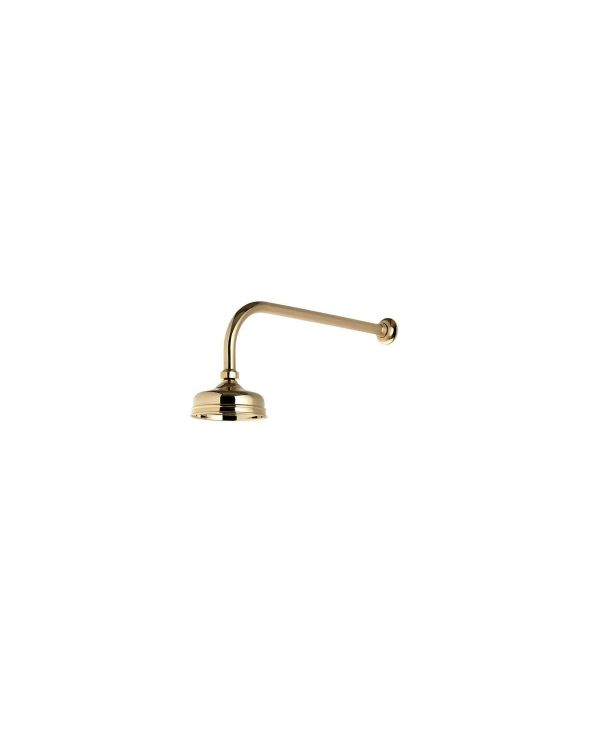 125mm Wall Fixed Traditional Shower Head - Gold