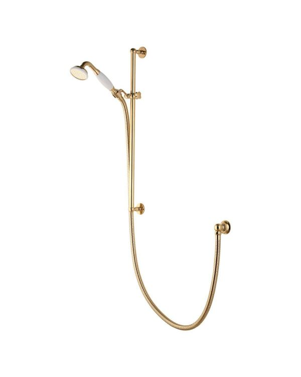 Concealed Adjustable Traditional Shower Head - Gold
