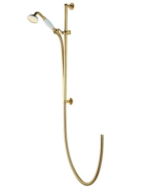 Aquatique exposed adjustable shower head - Gold