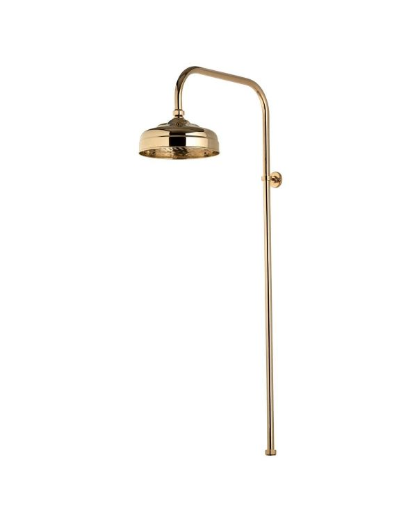 200mm Exposed Traditional Drencher Shower Head - Gold