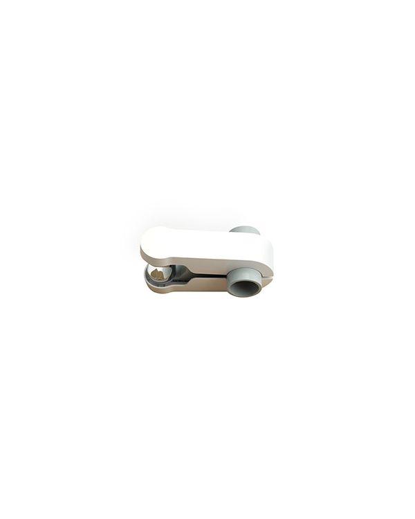 Pinch Grip Shower Head Holder - White, 25.4mm