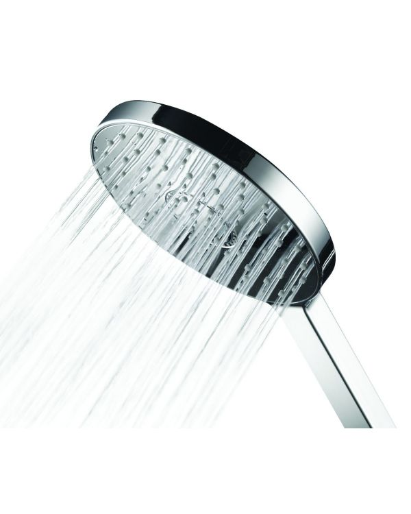 OPN4002 Adjustable shower heads Premier Collection-Options 130mm Oval 3 Spray shower head - Chrome/Satin chrome