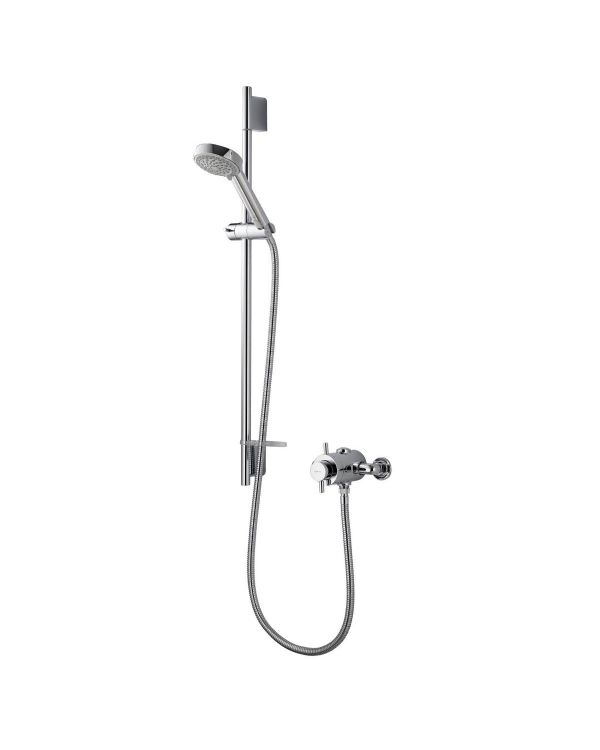 Aspire Exposed Mixer Shower with Adjustable Head