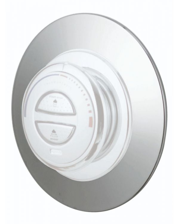 Concealed digital shower Retrofit wall plate Quartz