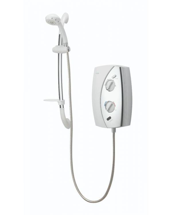 Gainsborough E50 8.5kW Electric Shower - White/Chrome