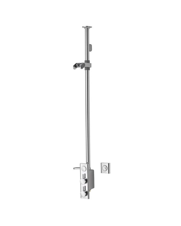 HiQu Digital Shower Exposed with remote control - Gravity Pumped